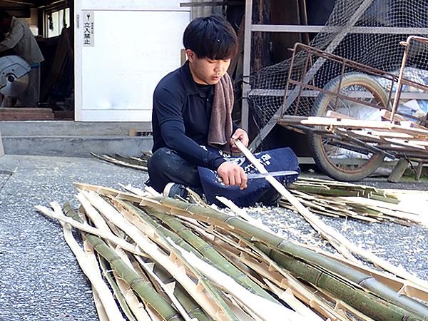 網代,竹編み,虎竹