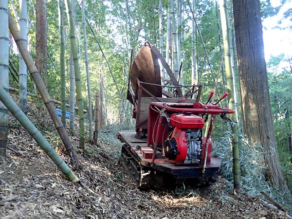 虎竹の運搬機
