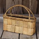 くるみ平編み手提げ籠バッグ