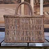 【国産】山ぶどう棚編み手提げバッグ