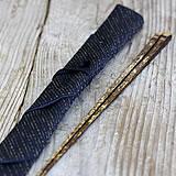 虎竹削り箸と箸袋のセット