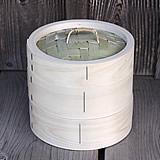 【国産】檜中華蒸籠(せいろ)18㎝ 身蓋二段セット