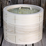 【国産】檜中華蒸籠(せいろ) 30㎝身蓋二段セット