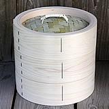 【国産】檜中華蒸籠(せいろ) 24㎝身蓋二段セット