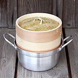 杉蒸籠(セイロ)15センチ1段鍋つきセット