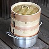 杉蒸籠(セイロ)15センチ2段鍋つきセット