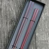 溜塗角夫婦箸