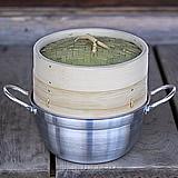 竹蒸篭(せいろ)18センチ1段鍋つきセット