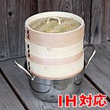 杉蒸篭(せいろ)15センチ2段ガスコンロ・IH対応鍋つきセット