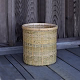 竹編みゴミ箱(小)