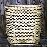 極みの白竹二段洗濯籠