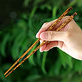 虎竹子供箸(名入れ/刻印)