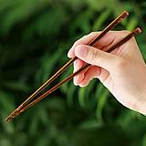 虎竹子供箸(黒)