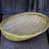 真竹楕円パン籠