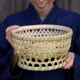 スズ竹茶碗籠