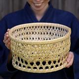 スズ竹茶碗籠(大)