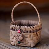 【国産】山ぶどう手付き小物籠