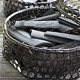 黒編み六ツ目竹炭かご(平)サイズ大