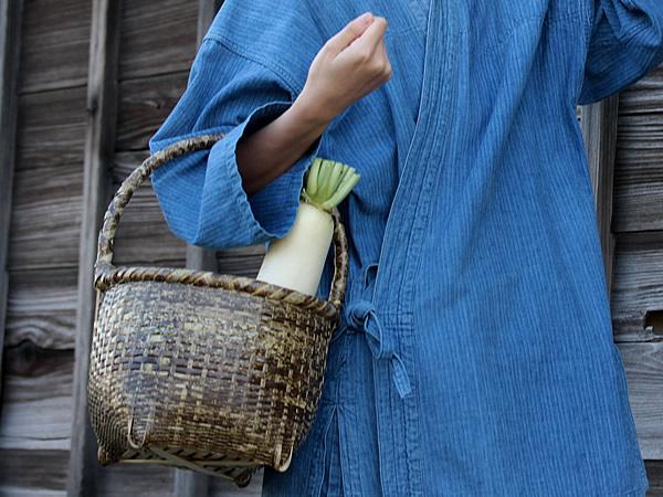 竹籠バック発見!高知のオーガニックマーケット
