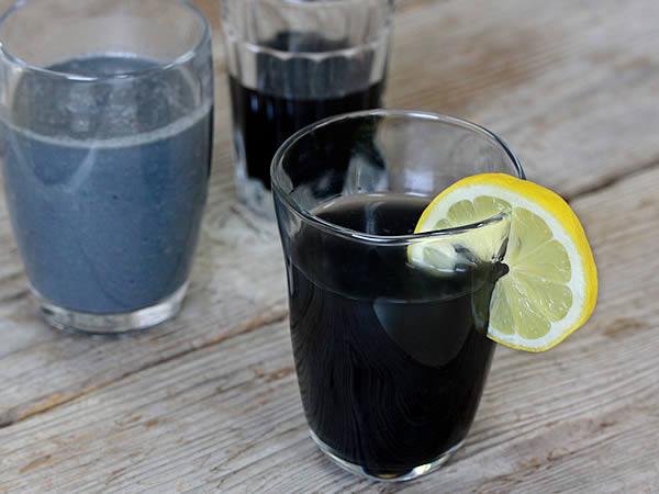バンブーチャコールジュース(Banboo charcoal juice, charcoal lemonade)