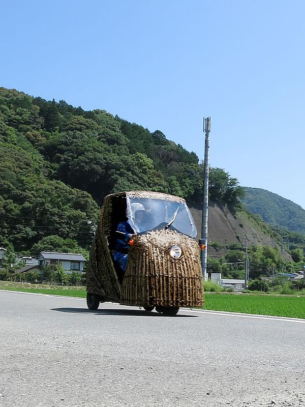 虎竹の里を走る日本唯一虎竹自動車