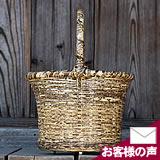 虎竹買い物かご(丸)