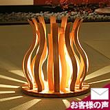 竹のフロアライト